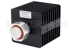 2 dB Fixed Attenuator, 7/16 DIN Male to 7/16 DIN Female Black Anodized Aluminum Heatsink Body Rated to 25 Watts Up to 7.5 GHz
