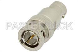 1 dB Fixed Attenuator, 75 Ohm BNC Male to 75 Ohm BNC Female Brass Nickel Body Rated to 2 Watts Up to 4 GHz