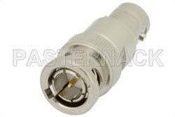 10 dB Fixed Attenuator, 75 Ohm BNC Male to 75 Ohm BNC Female Brass Nickel Body Rated to 2 Watts Up to 4 GHz