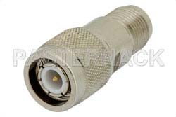 10 dB Fixed Attenuator, TNC Male to TNC Female Brass Nickel Body Rated to 2 Watts Up to 12.4 GHz