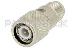 2 dB Fixed Attenuator, TNC Male to TNC Female Brass Nickel Body Rated to 2 Watts Up to 12.4 GHz