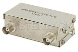 A/B Coaxial Electromechanical Relay Switch, DC to 1,000 MHz, 5W, 12V, BNC