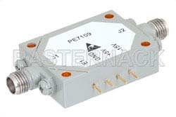 SMA SPST PIN Diode Switch Operating From 8 GHz to 12 GHz Up To +30 dBm