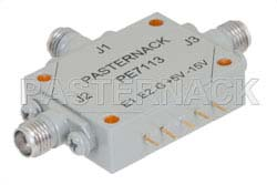SMA SPDT PIN Diode Switch Operating From 1 GHz to 18 GHz Up To +27 dBm