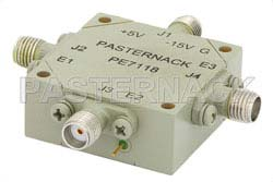 SMA SP3T PIN Diode Switch Operating From 10 MHz to 1,000 MHz Up To +30 dBm