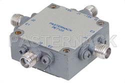 SMA SP3T PIN Diode Switch Operating From 1 GHz to 18 GHz Up To +27 dBm