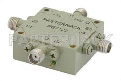 SMA SP3T PIN Diode Switch Operating From 4 GHz to 8 GHz Up To +30 dBm