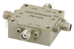 SMA SP3T PIN Diode Switch Operating From 8 GHz to 12 GHz Up To +27 dBm