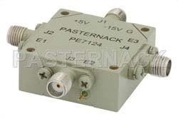 SMA SP3T PIN Diode Switch Operating From 12 GHz to 18 GHz Up To +27 dBm