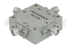 SMA Transfer PIN Diode Switch Operating From 4 GHz to 8 GHz Up To +30 dBm