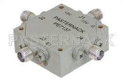 SMA Transfer PIN Diode Switch Operating From 8 GHz to 12 GHz Up To +27 dBm