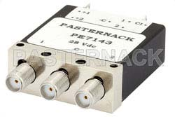 SPDT Electromechanical Relay Latching Switch, DC to 18 GHz, up to 85W, 24V, Indicators, Self Cut Off, SMA