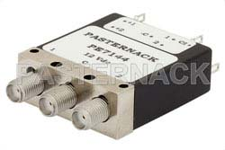 SPDT Electromechanical Relay Latching Switch, DC to 18 GHz, up to 85W, 10V, Indicators, Self Cut Off, SMA