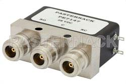 SPDT Electromechanical Relay Failsafe Switch, DC to 4 GHz, up to 550W, 28V, N