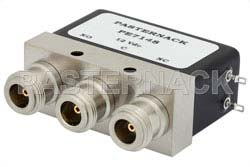 SPDT Electromechanical Relay Failsafe Switch, DC to 4 GHz, up to 550W, 12V, N