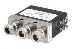 SPDT Electromechanical Relay Pulse Latching Switch, DC to 8 GHz, up to 375W, 28V, Indicators, Hot Switching, N