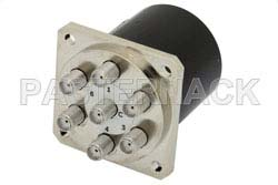 SP6T Electromechanical Relay Normally Open Switch, DC to 18 GHz, up to 85W, 28V, SMA
