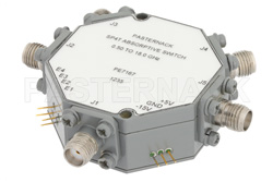 SMA SP4T PIN Diode Switch Operating From 500 MHz to 18 GHz Up To +20 dBm