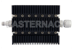 10 dB Fixed Attenuator, TNC Female To N Male Directional Black Anodized Aluminum Heatsink Body Rated To 100 Watts Up To 6 GHz