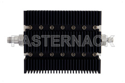 30 dB Fixed Attenuator, TNC Female To SMA Male Directional Black Anodized Aluminum Heatsink Body Rated To 100 Watts Up To 6 GHz