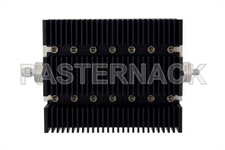 30 dB Fixed Attenuator, SMA Male to SMA Female Directional Black Anodized Aluminum Heatsink Body Rated to 100 Watts Up to 6 GHz