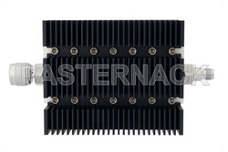40 dB Fixed Attenuator, N Male To TNC Female Directional Black Anodized Aluminum Heatsink Body Rated To 100 Watts Up To 6 GHz