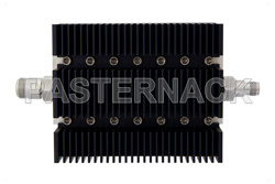 20 dB Fixed Attenuator, N Female To TNC Female Directional Black Anodized Aluminum Heatsink Body Rated To 100 Watts Up To 6 GHz