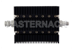 60 dB Fixed Attenuator, TNC Male To TNC Female Directional Black Anodized Aluminum Heatsink Body Rated To 100 Watts Up To 6 GHz