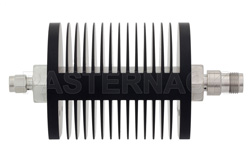 40 dB Fixed Attenuator, SMA Male to TNC Female Black Anodized Aluminum Heatsink Body Rated to 25 Watts Up to 18 GHz