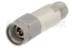 3 dB Fixed Attenuator, 2.92mm Male to 2.92mm Female Passivated Stainless Steel Body Rated to 2 Watts Up to 40 GHz