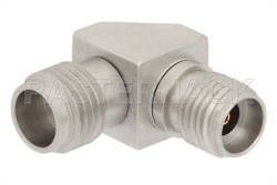 2.4mm Female to 2.92mm Female Right Angle Adapter
