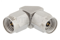 2.4mm Male to 2.4mm Male Right Angle Adapter