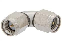 SMA Male to SMA Male Radius Right Angle Adapter