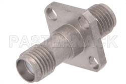 SMA Female to SMA Female 4 Hole Flange Mount Adapter