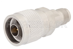 Precision N Male to TNC Female Adapter, With Knurl