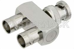 BNC Tee Adapter Male-Female-Female