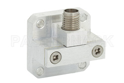 WR-34 Square Cover Flange to 2.92mm Female Waveguide to Coax Adapter Operating from 22 GHz to 33 GHz