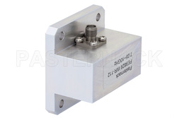 WR-112 Square Cover Flange to SMA Female Waveguide to Coax Adapter Operating from 7.05 GHz to 10 GHz