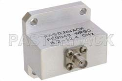 WR-90 Square Type Flange to End Launch SMA Female Waveguide to Coax Adapter Operating from 8.2 GHz to 12.4 GHz