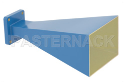 WR-102 Waveguide Standard Gain Horn Antenna Operating From 7 GHz to 11 GHz With a Nominal 15 dBi Gain With Square Cover Flange