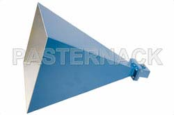 WR-159 Waveguide Standard Gain Horn Antenna Operating From 4.9 GHz to 7.05 GHz With a Nominal 20 dB Gain SMA Female Input