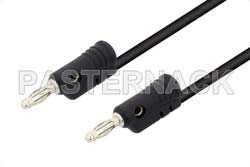Banana Plug to Banana Plug Cable 18 Inch Length Using Black Wire