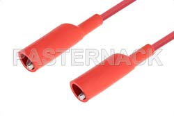 Alligator Clip to Alligator Clip Cable 18 Inch Length Using Red Wire
