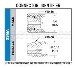 SSMA Male Connector Solder Attachment For RG178, RG196(图2)