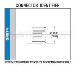 GR874 Connector Crimp/Solder Attachment for RG55, RG58, RG141, RG142, RG223, RG400(图2)