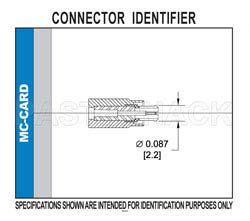MC-Card Plug Right Angle Connector Crimp/Solder Attachment for RG178, RG196(图2)