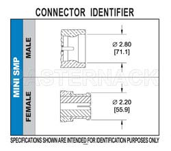 Mini SMP Female Right Angle Connector Solder Attachment for PE-047SR, PE-SR047AL, PE-SR047FL(图2)