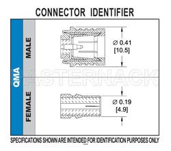 QMA Male Connector Solder Attachment For PE-SR405AL, PE-SR405FL, RG405(图2)