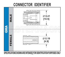 QMA Male Connector Crimp/Solder Attachment For RG55, RG142, RG223, RG400(图2)