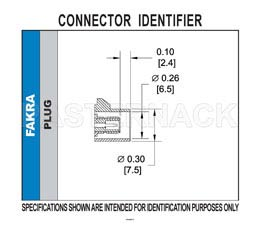 FAKRA Plug Right Angle Connector Solder Attachment Thru Hole PCB, Blue Color(图2)